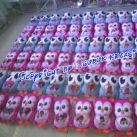 Jual souvenir ultah bantal owl wisuda anak/ souvenir promosi perusahaan Murah