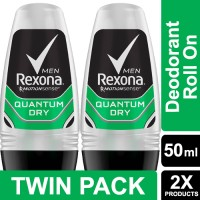 Rexona Men Anti-Perspirant Deodorant Roll On Quantum 50ml Twin Pack