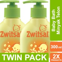 Zwitsal Baby Bath Natural Dengan Minyak Telon - Pump - 300ml Twin Pack