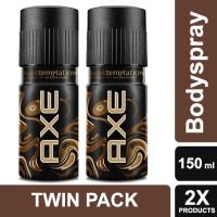 Axe Deodorant Bodyspray Dark Temptation 150ml Twin Pack