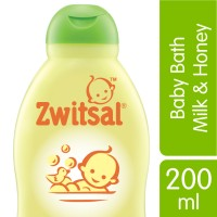 ZWITSAL BABY BATH NATURAL DENGAN MILK & HONEY - 200ML