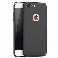 Jual iPhone 7 Plus Baby Skin Ultra Thin Full Cover Hard Case Black  IP12  Murah