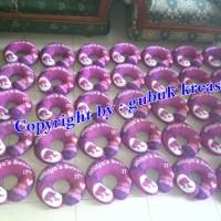 Jual souvenir ultah bantal leher fullprint/ bs souvenir pernikahan Murah