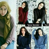 Loose Sweater Switer Sweter Rajut SS Boxi Jumbo fit XXL