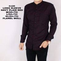 Jual Kemeja Flanel Pria Lengan Panjang Hitam Merah / Baju Flannel Cowok Murah