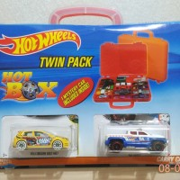 Box Koper Kotak Hot Wheels Twin Pack include 3 pcs Mobil HotWheels