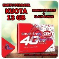 Jual kartu perdana internet smartfren 13gb aktif alternatif xl go im3 sakti Murah