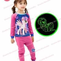 Jual Baju Tidur Piyama Anak Perempuan SGW 14 G my little Pony Rarity Pink  Murah