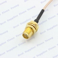 RP-SMA RP SMA Female to uFL u.FL IPX IPEX Connector RG178 Pigtail 20cm