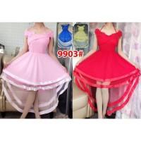 Dress Ekor 9903/ Baju Pesta / Baju Party / Baju Nikah / Gaun brokat