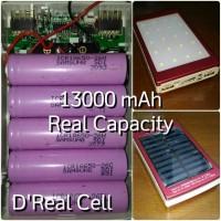 Jual DIY Power Bank Solar Real Capacity 13000 mAh + 20 LED incl Samsung ICR Murah