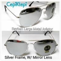 Kacamata Rayban Aviator Silver Mirror (KACA)