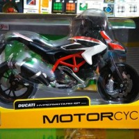 Miniatur Motor Ducati Hypermotard SP Diecast Motor Maisto Skala 1/12