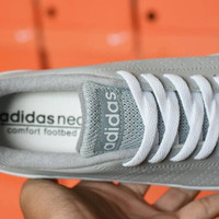 Sepatu Murah Casual Adidas Neo Advantage Kets Abu-Abu Import Modis