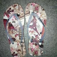 sandal wanita motif sol karet