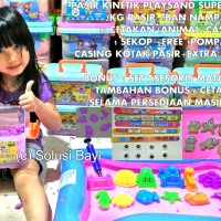 Jual Pasir Kinetik Playsand SUPER JUMBO 2KG Kinetic Sand Model Sand Murah