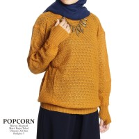 Baju Rajut Murah / Bandung Fashion / Popcorn Mustard