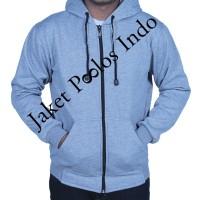 Jual Jaket Sweater Hoodie Zipper Polos Misty Muda Murah