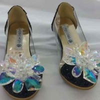 Sepatu Kaca Cinderella Anak Black