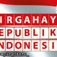 Banner Flag / Bunting Flag HUT RI / DIRGAHAYU Republik Indonesia