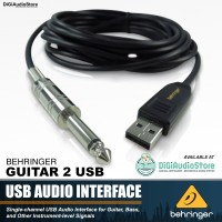 BEHRINGER GUITAR LINK CABLE / KABEL ADAPTER USB to JACK PHONO 1/4 Mono