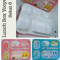 LUNCH BOX MOTIF / GRID / SEKAT 6 / TEMPAT MAKAN / KOTAK BEKAL