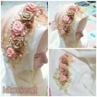 headpiece hijab pengantin murah / headpiece wisuda