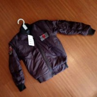 Jual Jaket Bomber Anak Merah Gelap (maroon) Usia 4-5 Tahun Murah