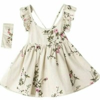 Jual Dress anak + flower + impor + halter neck Murah