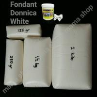 Fondant Putih Merk Donnica Repack 500 Gram Gula Dekor Bahan Hiasan Kue