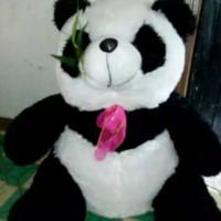Jual boneka panda besar xl makan rumput duduk Murah