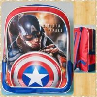 Jual Tas Anak SD -Tas Ransel Anak 3D Captain America - Tas Sekolah Anak Murah