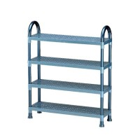 Rak tempat sepatu plastik shelf stand susun 4 lion star