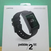 Pebble 2 SE (Standard Edition) Smartwatch - Hitam (Black)