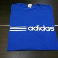 Kaos Adidas Stripes blue / T shrit Adidas stripes