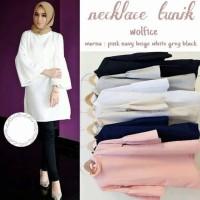 Baju Murah Atasan Blouse Midi Dress Muslim Wanita Sy Necklace Tunik