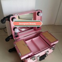 Seongnam Beauty Case in Cabin Size with Dimmer and 4 wheels - Pink