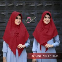 jilbab instan segi tiga instan Embos Lurik Ori deQiara