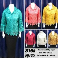 Jual blouse brokat / blouse xxl / atasan 3xl / atasan brukat Murah