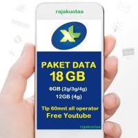 perdana/PAKET DATA INTERNET XL, KUOTA XL XTRA COMBO XL 18GB