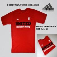 Jual Kaos Baju Pakaian Distro Bola Pria Manchester United MU Variasi Warna Murah