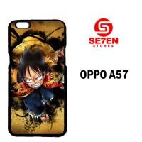 Casing Untuk Oppo A57 one piece luffy background wallpaper Custom Hard