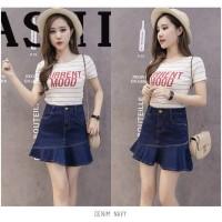 Jual Rok Mini Flare Pencil Jeans Maxi Skirt  Amanda Denim Skirt(#6030)/Rok Murah