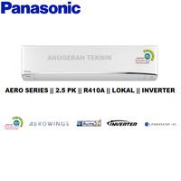 AC SPLIT PANASONIC 2.5 PK 2.5PK R410A AERO INVERTER - U24TKP