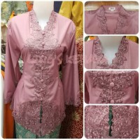 Kebaya Encim Modern Spesial Pink Dusty Senada Tangan 7/8