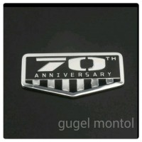 Sticker Emblem 70th Anniversary For Jeep Wrangler JK Grand Cherokee