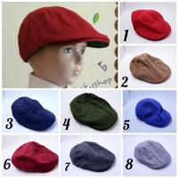 topi pet anak cute/topi pet anak polos/topi pet 2 warna buatan lokal