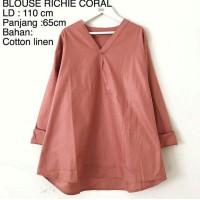 Baju Atasan Muslim Wanita / Blouse Muslim [blouse Richie Coral]