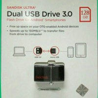 Jual FLASHDISK SANDISK OTG 128GB 150MBPS USB 3.0 / OTG 128 GB 150 MB/S ORI Murah
