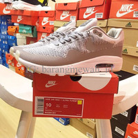 Exclusive Nike Air Max 1 Ultra Flyknit Grey white Termurah